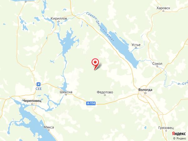 деревня Орешник на карте