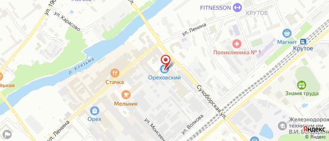 Карта расположения пункта доставки Орехово-Зуево Бабушкина в городе Орехово-Зуево