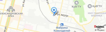 Зерноприбор на карте Краснодара