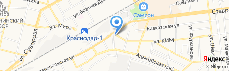 Гравитация на карте Краснодара