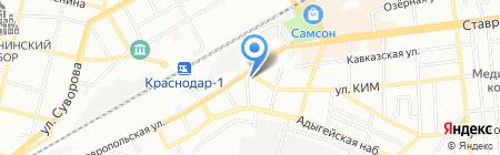 Чайковский текстиль на карте Краснодара