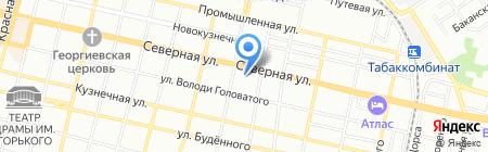 Городъ на карте Краснодара