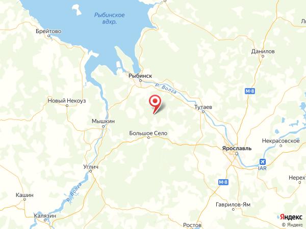 деревня Александрова Пустынь на карте
