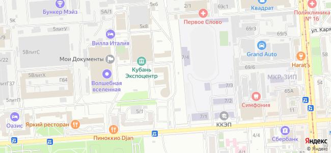 Краснодар, Зиповская, 5 - общественный транспорт, остановки