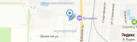 К.Е. на карте Краснодара