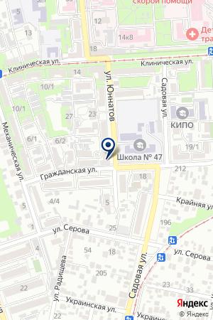 Управление Росреестра по Краснодарскому краю на карте Краснодара
