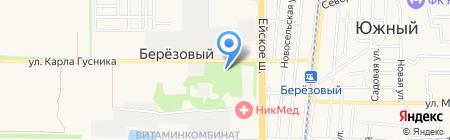 Фаэтон на карте Краснодара