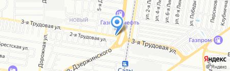 Мерлион тур на карте Краснодара