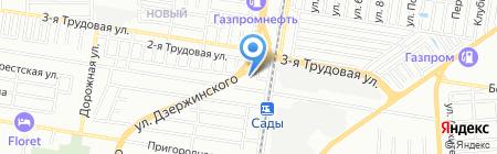 Банный Царь на карте Краснодара