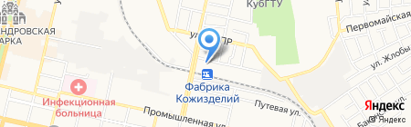 Юглесснаб на карте Краснодара