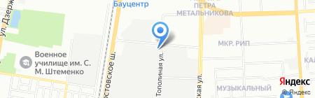 Элана на карте Краснодара