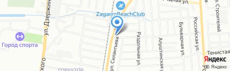 Атлант на карте Краснодара
