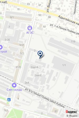 Продуктовый магазин на ул. Вишняковой на карте Краснодара