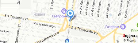 Серво-Юг на карте Краснодара
