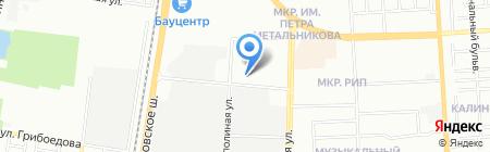 Электрокабель на карте Краснодара