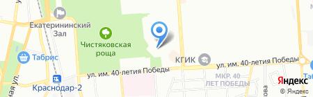 Детский сад №158 на карте Краснодара