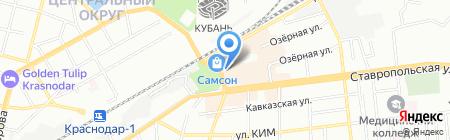Сана на карте Краснодара