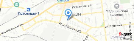 Продуктовый магазин на Черноморской на карте Краснодара