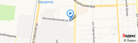 Авангард на карте Краснодара