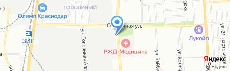 Ригли на карте Краснодара