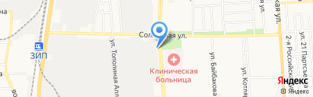 Новая линия Юг на карте Краснодара