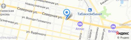 Гюйс на карте Краснодара