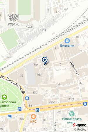 Сплит Маркет на карте Краснодара