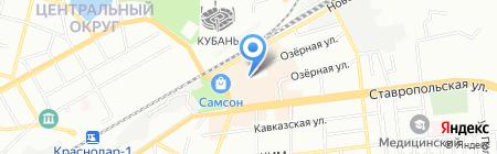 Подиум на карте Краснодара