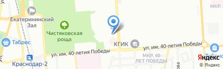 Детский сад №147 на карте Краснодара