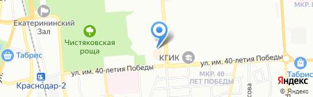Детский сад №151 на карте Краснодара