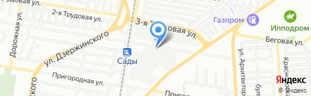 Кейс-Атташе на карте Краснодара