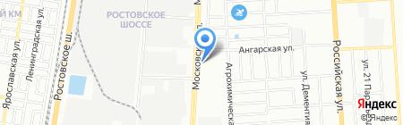 Сонга на карте Краснодара