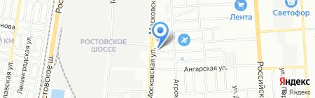 Недвижимость Кубани на карте Краснодара