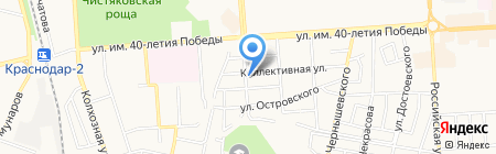 Красотка на карте Краснодара