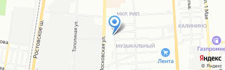 Солнечный на карте Краснодара