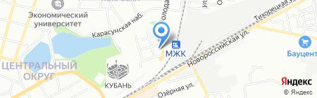 Детский сад №99 на карте Краснодара