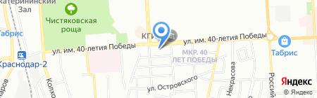 Серебряные пруды на карте Краснодара