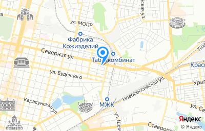 Местоположение на карте пункта техосмотра по адресу г Краснодар, проезд им. Ломоносова, д 16