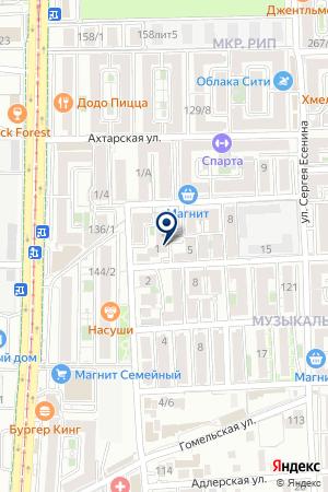 Продуктовый магазин на ул. Дунаевского на карте Краснодара