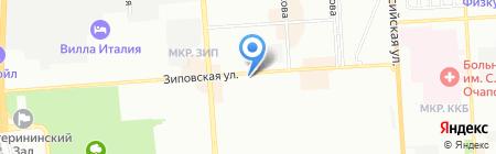 Миледи на карте Краснодара