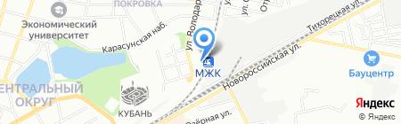 Содружество на карте Краснодара