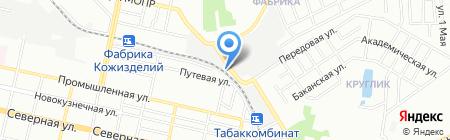 Морена на карте Краснодара