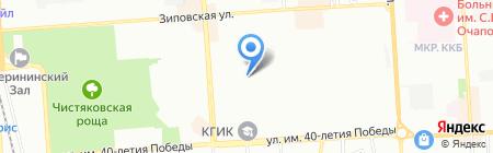 Эста на карте Краснодара