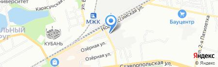 Авторай на карте Краснодара