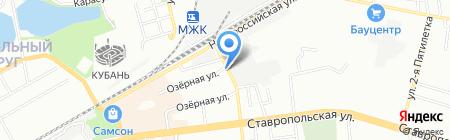 Золотая рыбка на карте Краснодара
