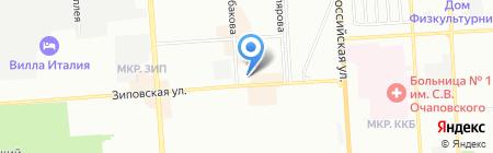 Одеон на карте Краснодара