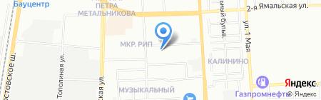 Парус на карте Краснодара