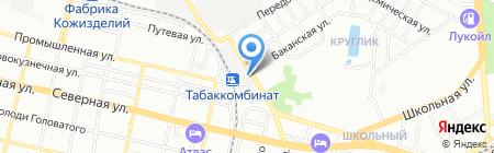 Мега на карте Краснодара