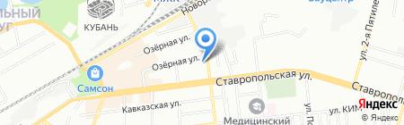 Аллеко-Кубань на карте Краснодара