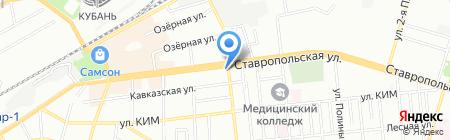 Магазин мясной продукции на Ставропольской на карте Краснодара